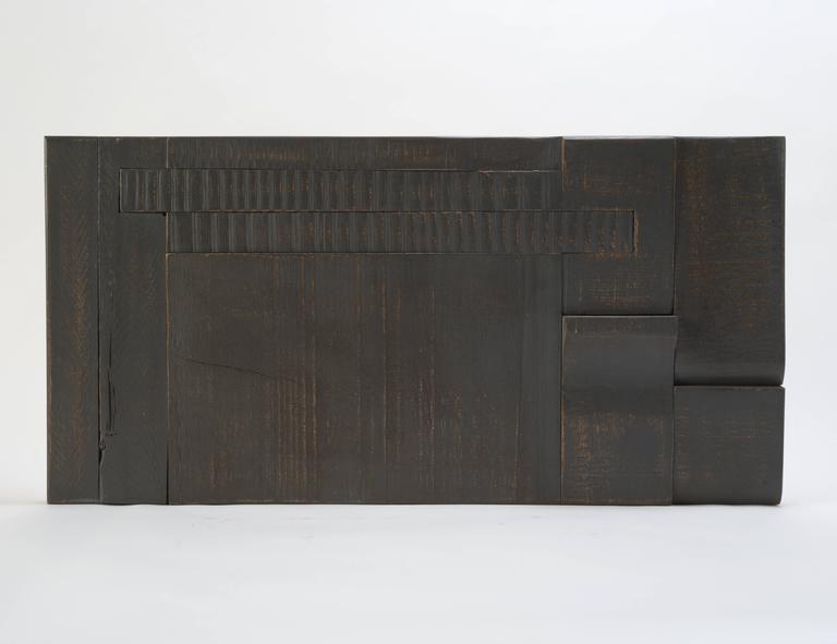 Zufällige Collage Panels, Funktionelle Kunst für die Wand aus Recyceltem Holz 16