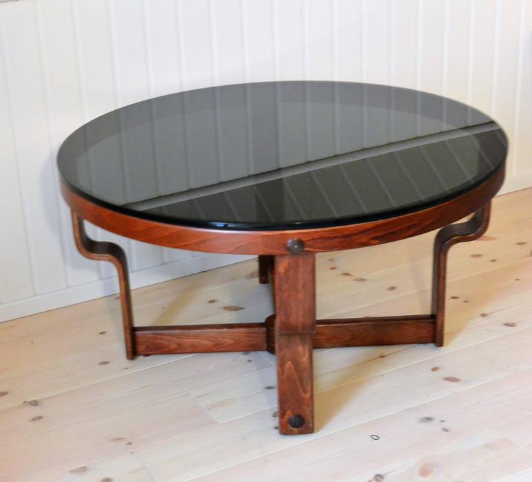 Rare Glass And Beechwood Table Vad Norway For Sale At 1stdibs