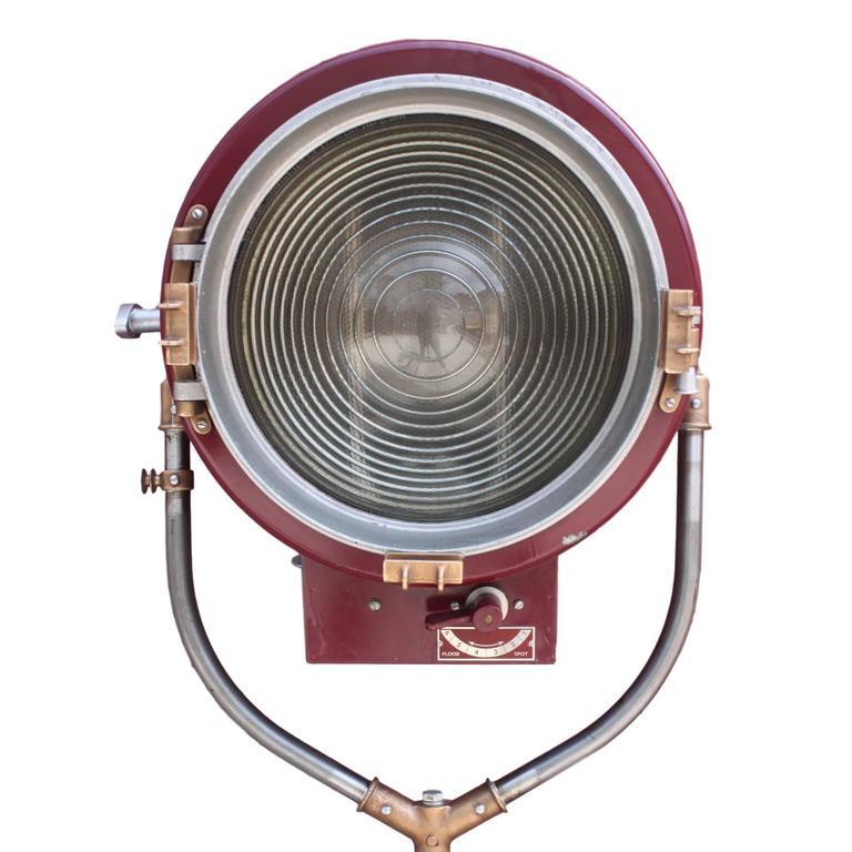 Mole Richardson Zip Light: Vintage Mole-Richardson Type 415 Senior Solarspot Spot