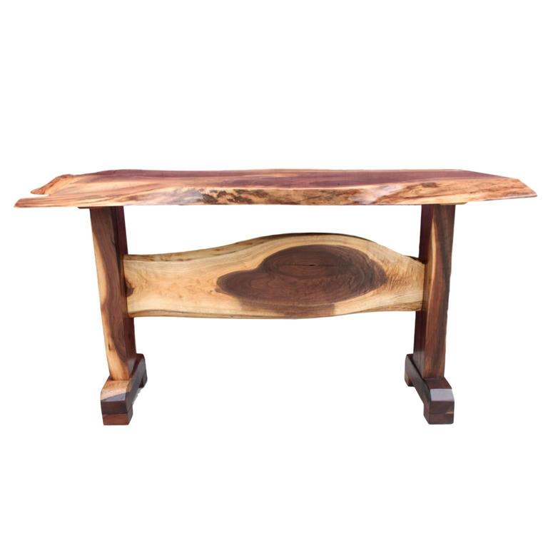 This Gorgeous Console Table Was Constructed In Our Workshop From Solid  Walnut. Top Is A