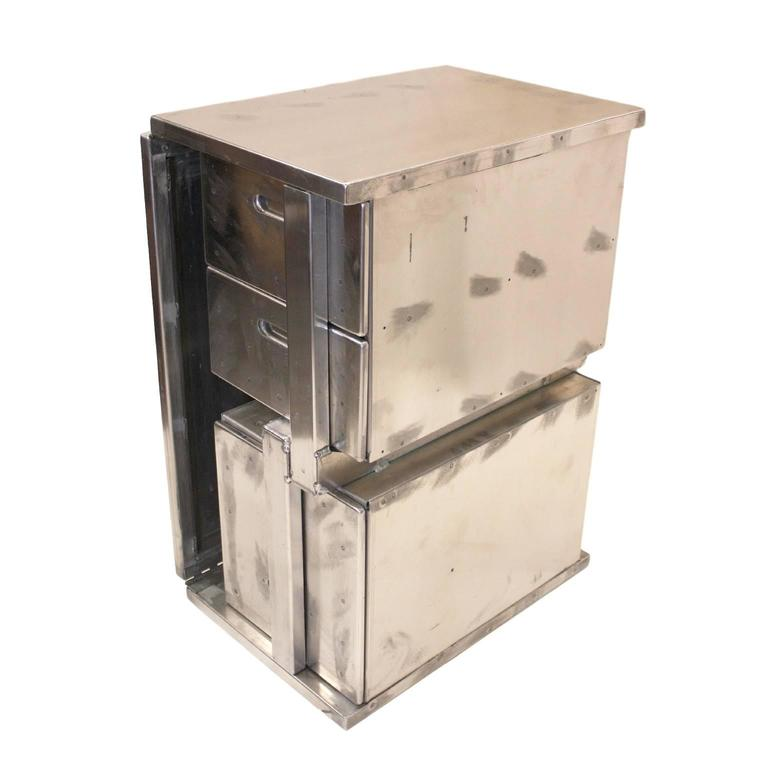 Vintage Industrial Mid-Century Modern Aluminum Folding Desk For Sale 4