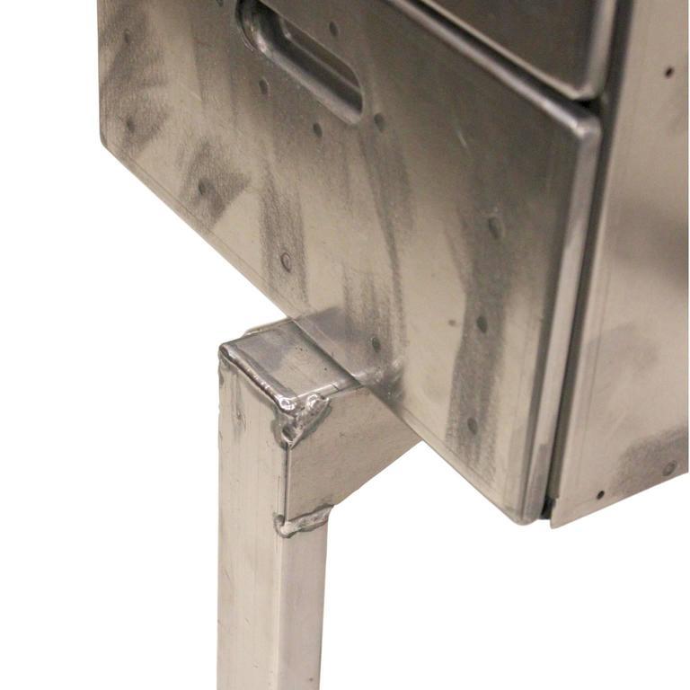 Vintage Industrial Mid-Century Modern Aluminum Folding Desk For Sale 2