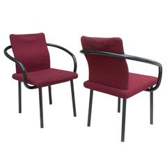 Pair of 1980s Ettore Sottsass Mandarin Side Chairs for Knoll