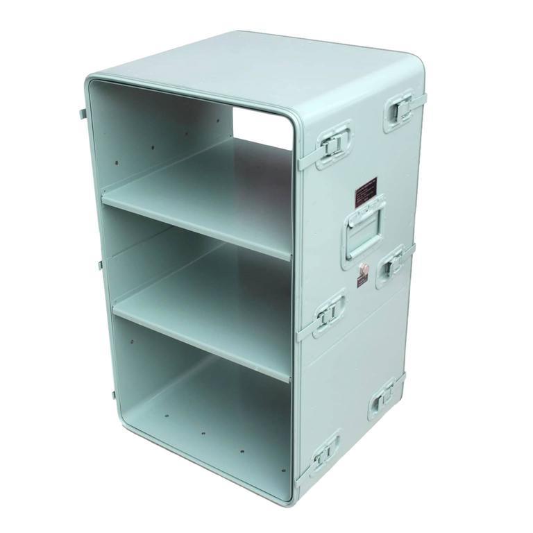 Industrial Portable Storage : Vintage industrial portable aluminium console shelving