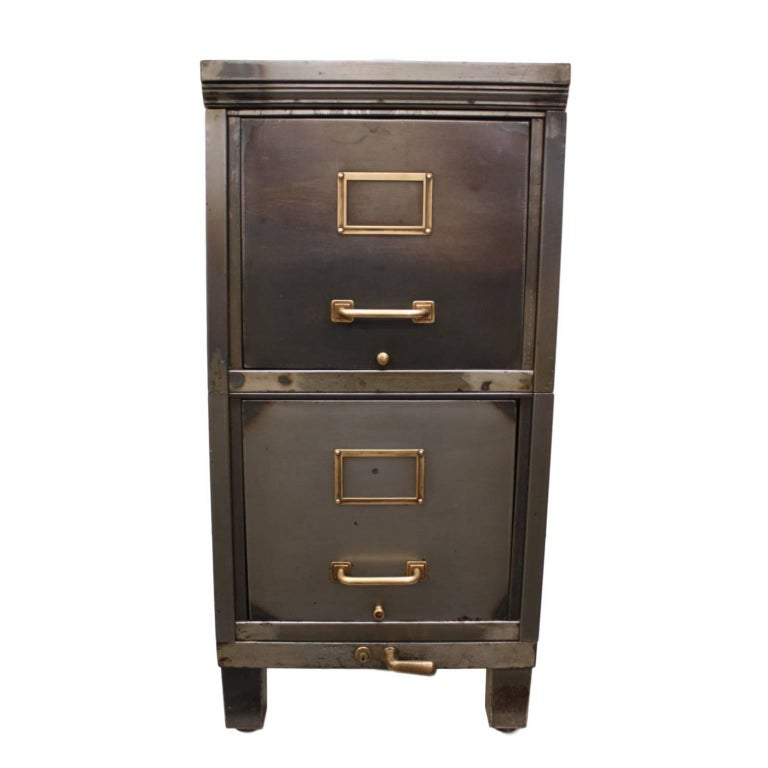 Vintage 1930s Industrial File Cabinet End Table At 1stdibs