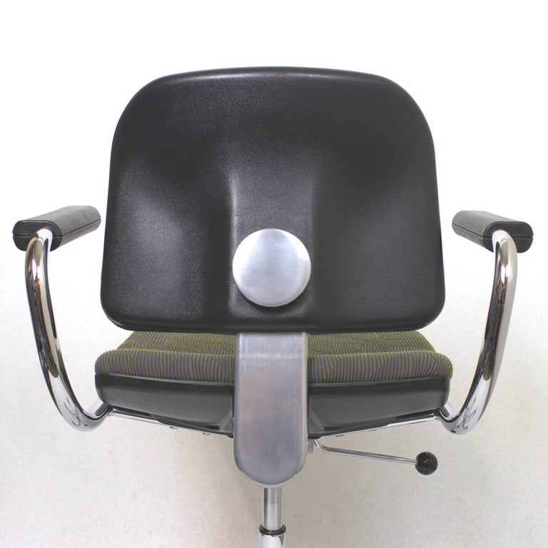 Vintage Mid-Century Modern Euro-Chair Desk Chair by Fritz Makiol for Girsberger For Sale 2