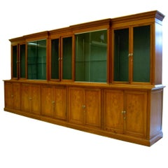 Spectacular Midcentury Classical Romweber Walnut Bookcase Wall Unit