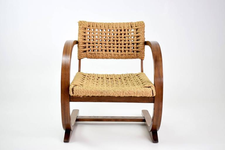 Oak  Dutch Art Deco Armchairs by Bas Van Pelt, 1930's  For Sale