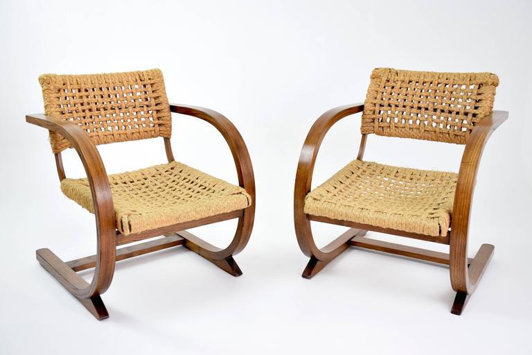 Organic Modern  Dutch Art Deco Armchairs by Bas Van Pelt, 1930's  For Sale