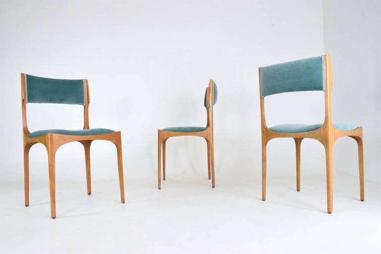 Mid-Century Modern Mid-Century Giuseppe Gibelli Dining Chairs, Set of Six