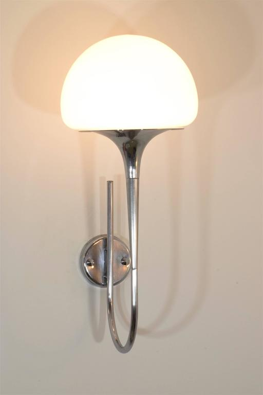 Mid-Century Modern Italian Vintage Chrome Wall Lights by Goffredo Reggiani, 1960's  For Sale