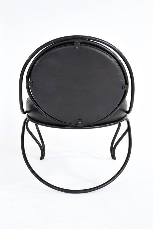 Lacquered Copacabana Chair by Mathieu-Matégot, France, 1955 For Sale