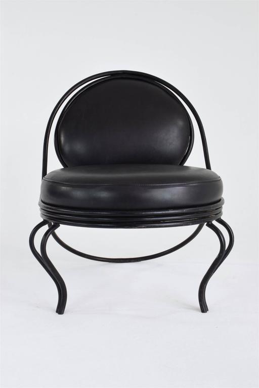 French Copacabana Chair by Mathieu-Matégot, France, 1955 For Sale