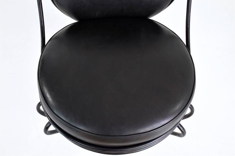 Leather Copacabana Chair by Mathieu-Matégot, France, 1955 For Sale