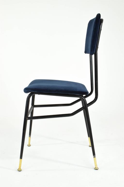 Italian Vintage Mid-Century Dining Chairs by Studio BBPR, 1950's, Set of 6  In Good Condition In Paris, FR