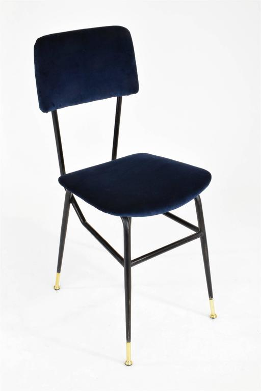 Lacquered Italian Vintage Mid-Century Dining Chairs by Studio BBPR, 1950's, Set of 6