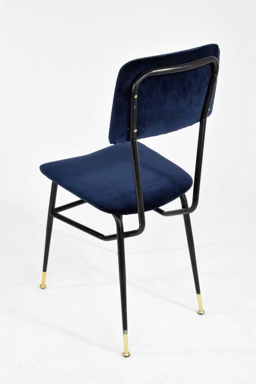 Brass Italian Vintage Mid-Century Dining Chairs by Studio BBPR, 1950's, Set of 6