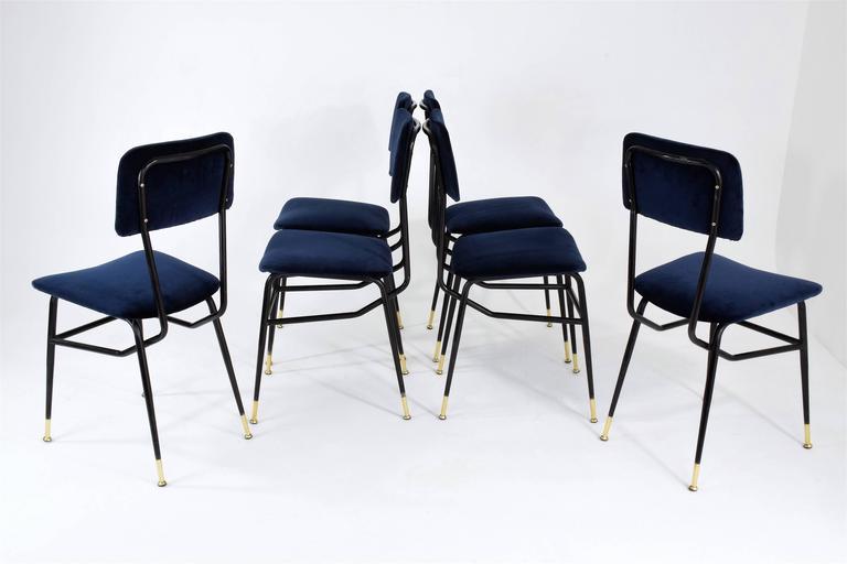 Mid-Century Modern Italian Vintage Mid-Century Dining Chairs by Studio BBPR, 1950's, Set of 6