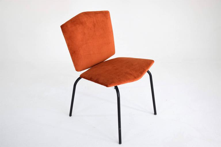Pair of French Mid-Century Velvet Chairs 5