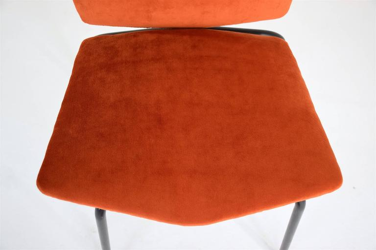 Pair of French Mid-Century Velvet Chairs 9