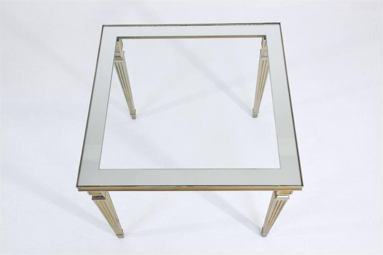 Glass 20th Century French Coffee Table by Maison Jansen, 1970's For Sale