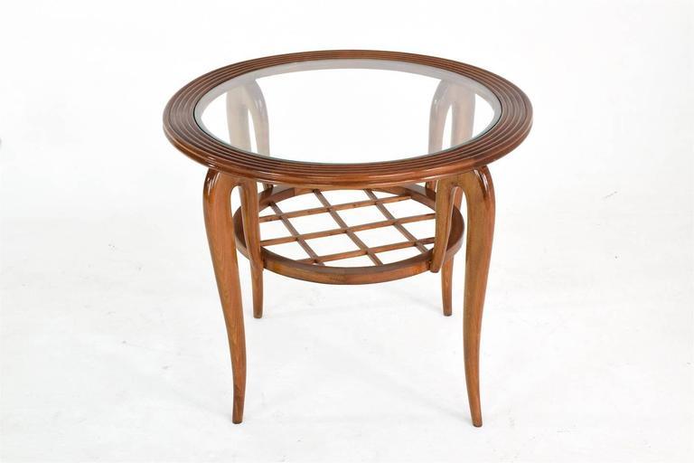 Italian Coffee Table Attributed to Poalo Buffa, 1950s  3