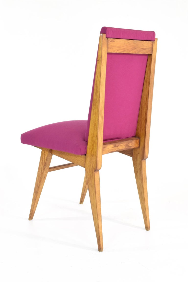 French Art Deco Dining Chairs, Set of Five, 1940s For Sale 1