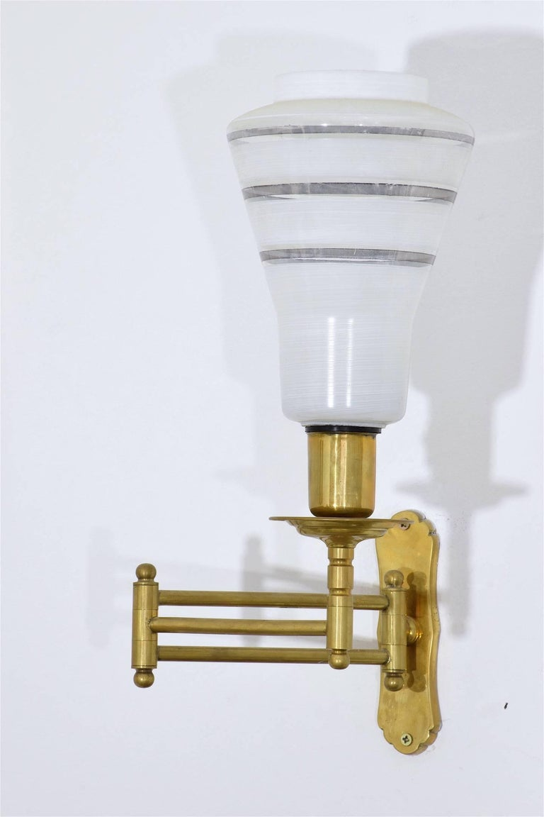 Wall Lamps Adjustable : Mid-Century Adjustable Brass Wall Lamps For Sale at 1stdibs