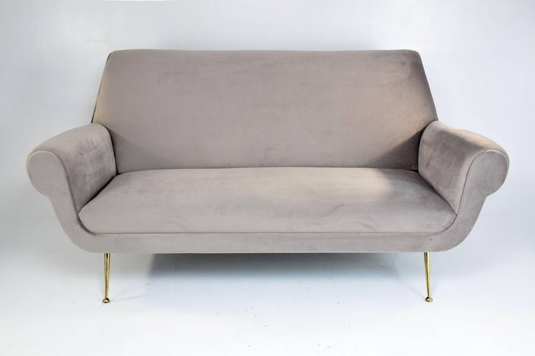Mid-Century Modern Italian Mid-Century Sofa In The Style Of Gigi Radice, 1950s For Sale
