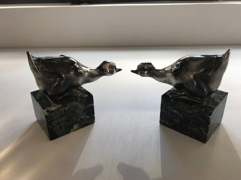 Pair of Art Deco Bookends by Rischmann, 1930s In Good Condition For Sale In Paris, FR
