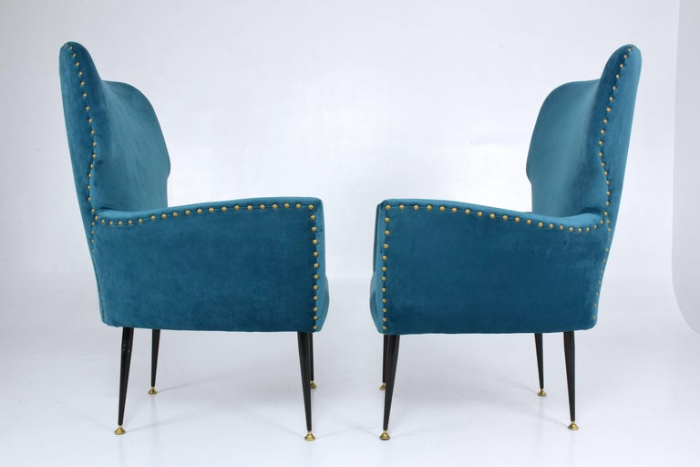 20th Century Pair of Italian Mid-Century Vintage Armchairs, 1950s For Sale