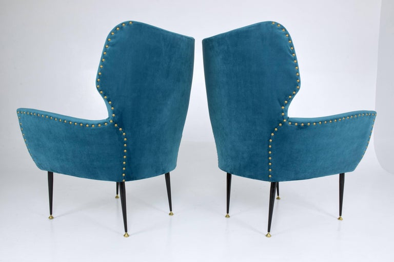 Pair of Italian Mid-Century Vintage Armchairs, 1950s For Sale 3