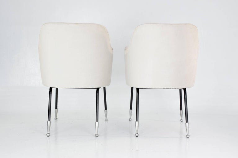 Italian Vintage Mid-Century Armchairs, Set of Two, 1950's  For Sale 1