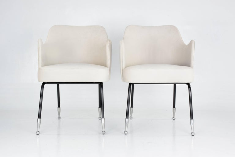 20th Century Italian Vintage Mid-Century Armchairs, Set of Two, 1950's  For Sale