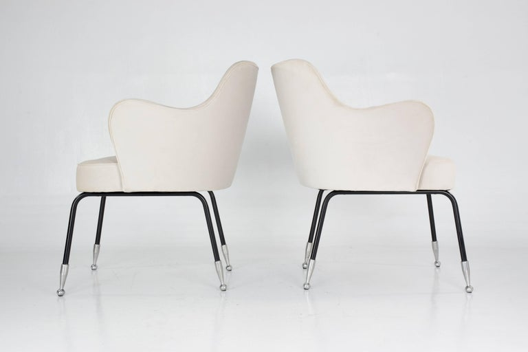 Mid-Century Modern Italian Vintage Mid-Century Armchairs, Set of Two, 1950's  For Sale