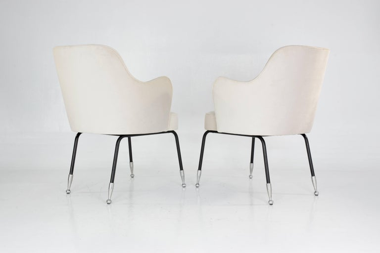 Italian Vintage Mid-Century Armchairs, Set of Two, 1950's  In Good Condition For Sale In Paris, FR