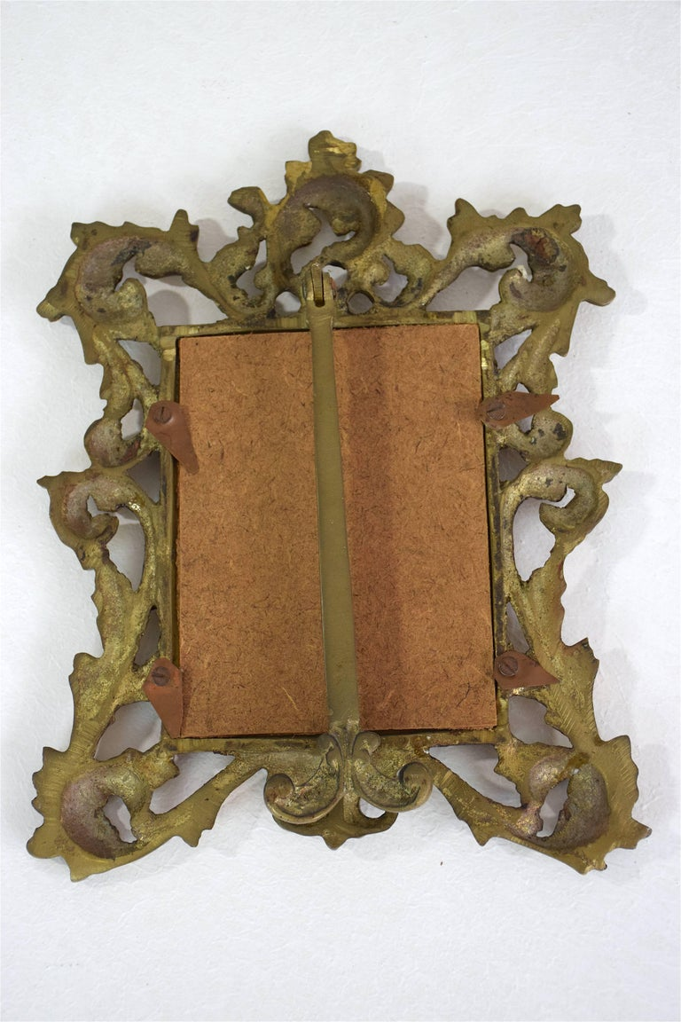 Early Victorian Antique Gilded Bronze Picture Frame For Sale