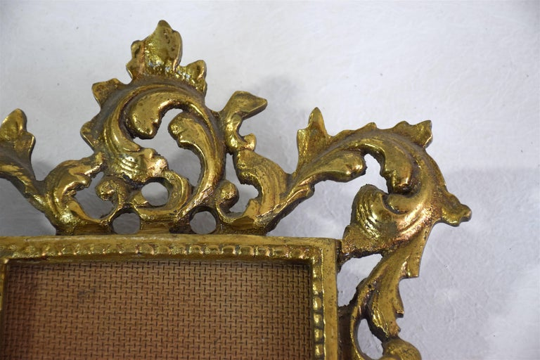 British Antique Gilded Bronze Picture Frame For Sale