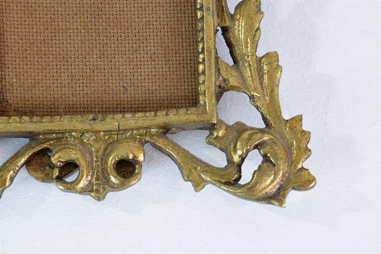 Gilt Antique Gilded Bronze Picture Frame For Sale
