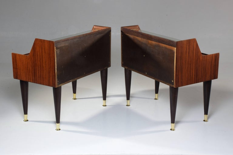 Mid-Century Modern Pair of Italian Midcentury Nightstands In the Manner of Gio Ponti, 1950-1960  For Sale