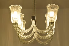 Italian Murano Chandelier Attributed to Barovier & Toso, 1940's