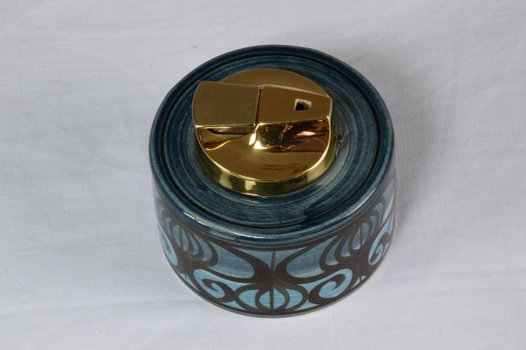 Midcentury Vintage Ronson Ceramic Table Lighter For Sale 3