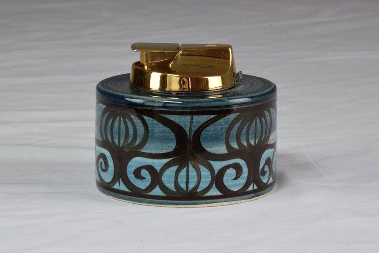 Midcentury Vintage Ronson Ceramic Table Lighter For Sale 2