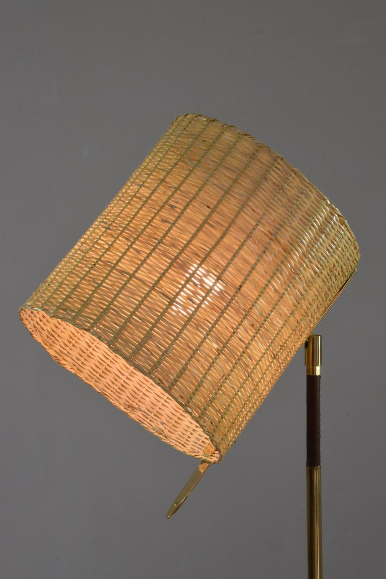 Polished Infinitus.VI MII Contemporary Wicker Lamp, Flow Collection For Sale