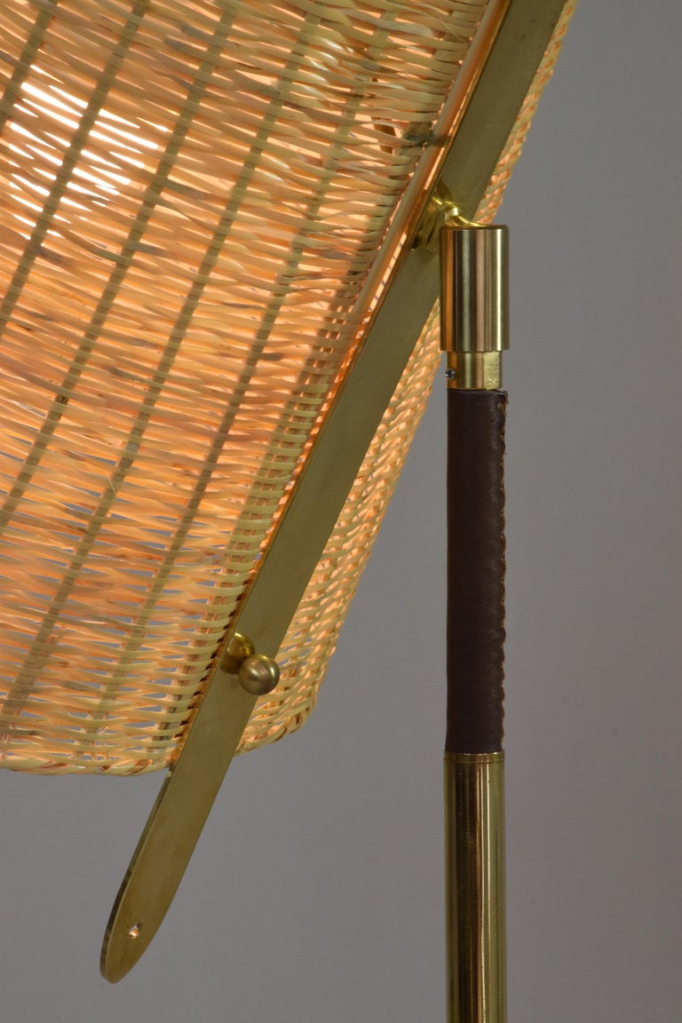 Infinitus.VI MII Contemporary Wicker Lamp, Flow Collection In Excellent Condition For Sale In Paris, FR