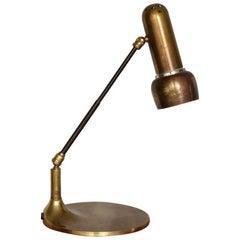 Italian Vintage Brass Articulating Lamp, 1950s