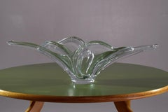 French 20th Century Crystal Centerpiece Dish, 1960-1970's