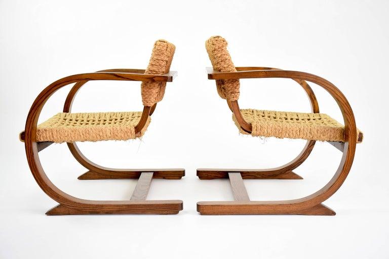 Dutch Art Deco Armchairs by Bas Van Pelt, 1930's  For Sale 2