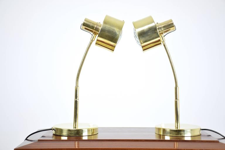 Italian Mid-Century Table Lamps in the Manner of Max Ingrand, 1960's  In Excellent Condition For Sale In Paris, FR