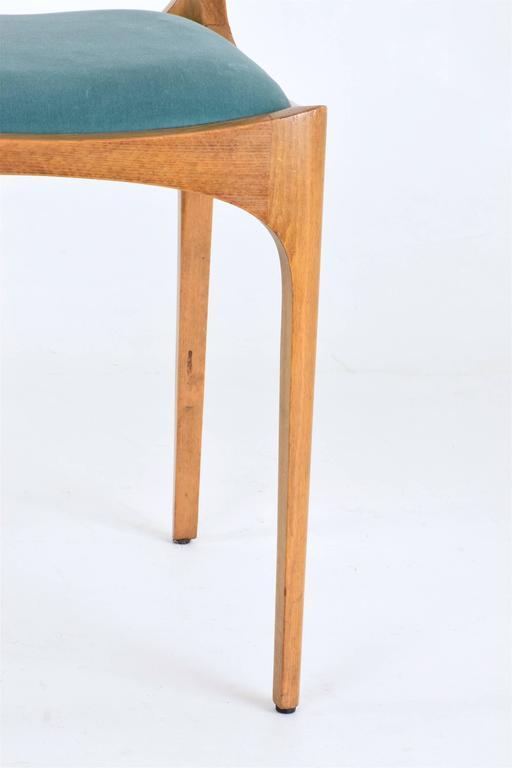 Mid-20th Century Mid-Century Giuseppe Gibelli Dining Chairs, Set of Six